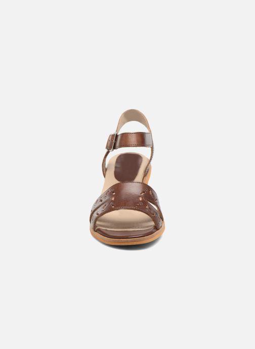 Sandales et nu-pieds Dkode Grazia Marron vue portées chaussures