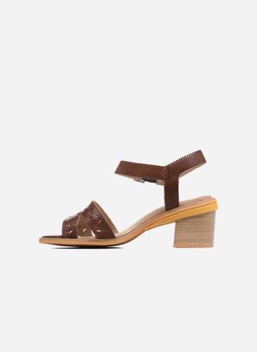 Sandales et nu-pieds Dkode Grazia Marron vue face