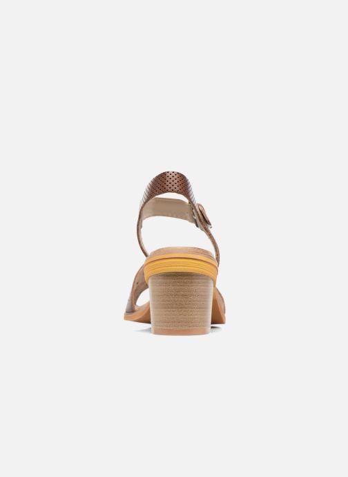 Sandales et nu-pieds Dkode Grazia Marron vue droite