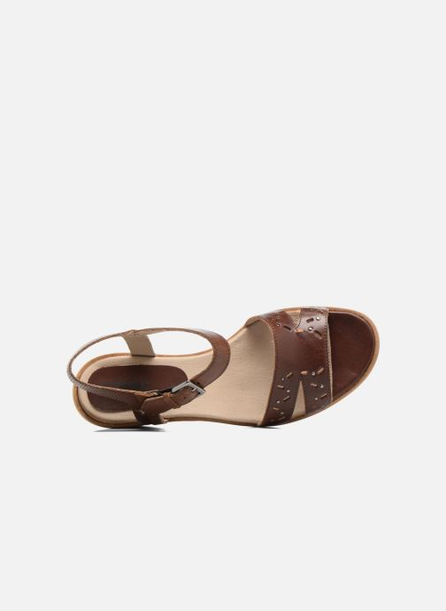 Sandales et nu-pieds Dkode Grazia Marron vue gauche