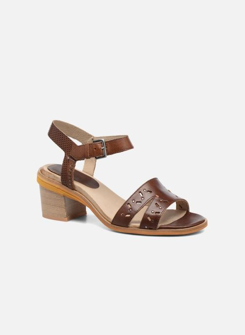 Sandals Dkode Grazia Brown detailed view/ Pair view