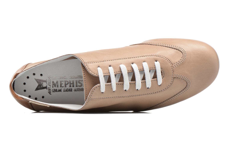 Chaussures à lacets Mephisto Becky Beige vue gauche