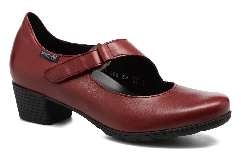 Høje hæle Mephisto Ielena Rød detaljeret billede af skoene