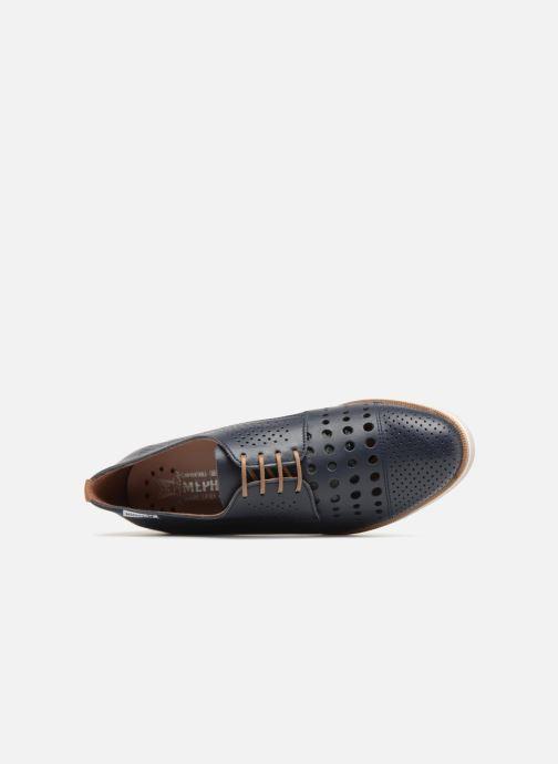 Chaussures à lacets Mephisto Pearl perf Bleu vue gauche