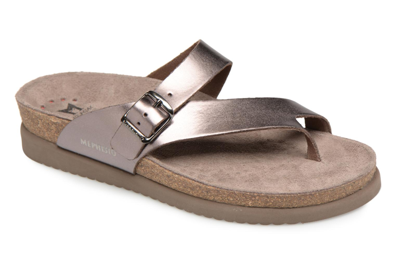 Sandales et nu-pieds Mephisto Helen Or et bronze vue détail/paire
