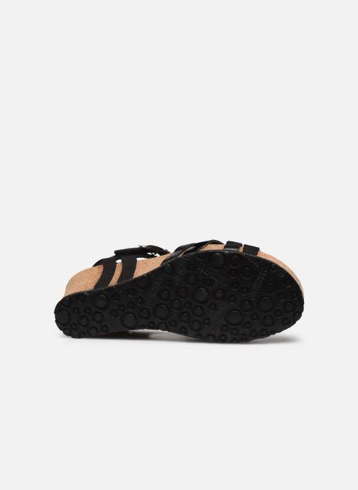 Sandales et nu-pieds Mephisto Lanny C Noir vue haut