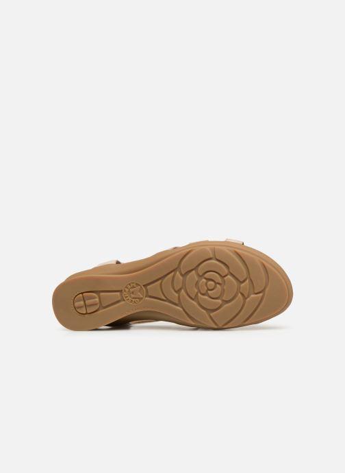 Sandales et nu-pieds Mephisto Parcela Beige vue haut
