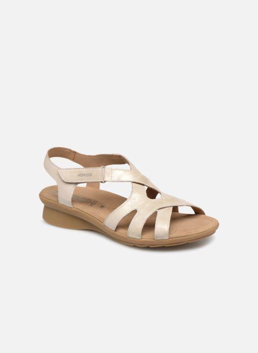 Sandales et nu-pieds Mephisto Parcela Beige vue détail/paire