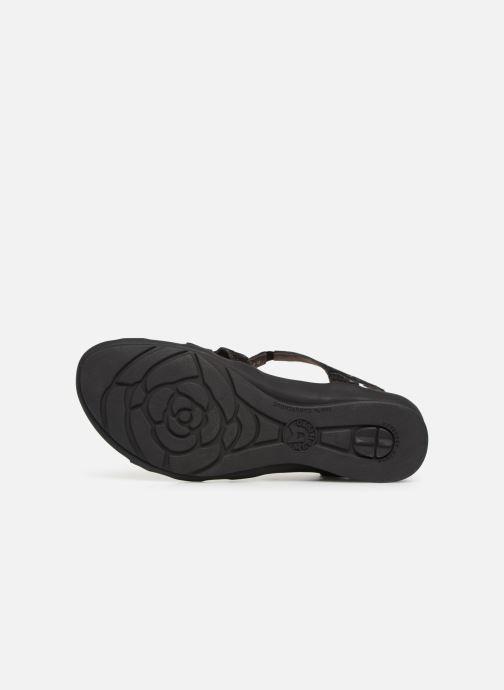 Sandales et nu-pieds Mephisto Parcela Noir vue haut