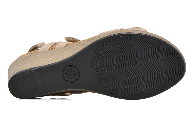 Sandales et nu-pieds Mephisto Willow Gris vue haut