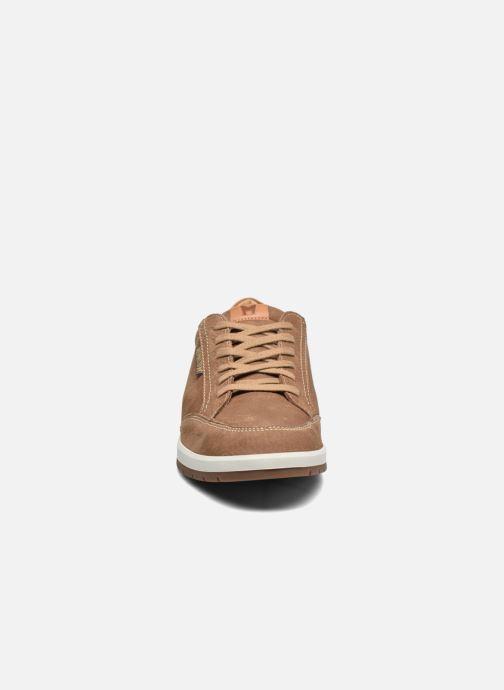 Baskets Mephisto Ludo Beige vue portées chaussures