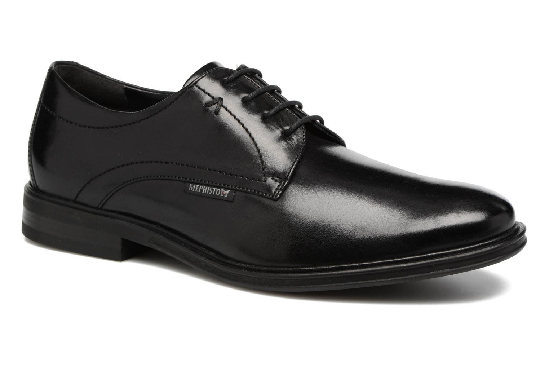 Chaussures à lacets Mephisto Nico Noir vue détail/paire