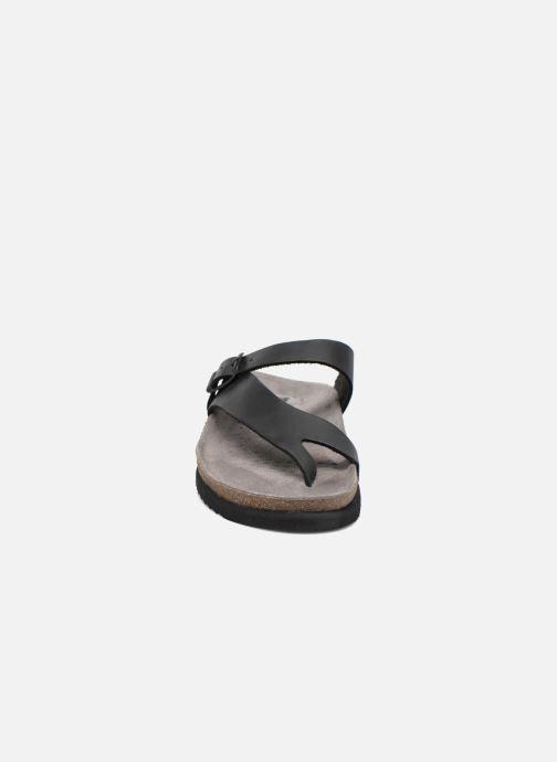 Tongs Mephisto Niels Noir vue portées chaussures