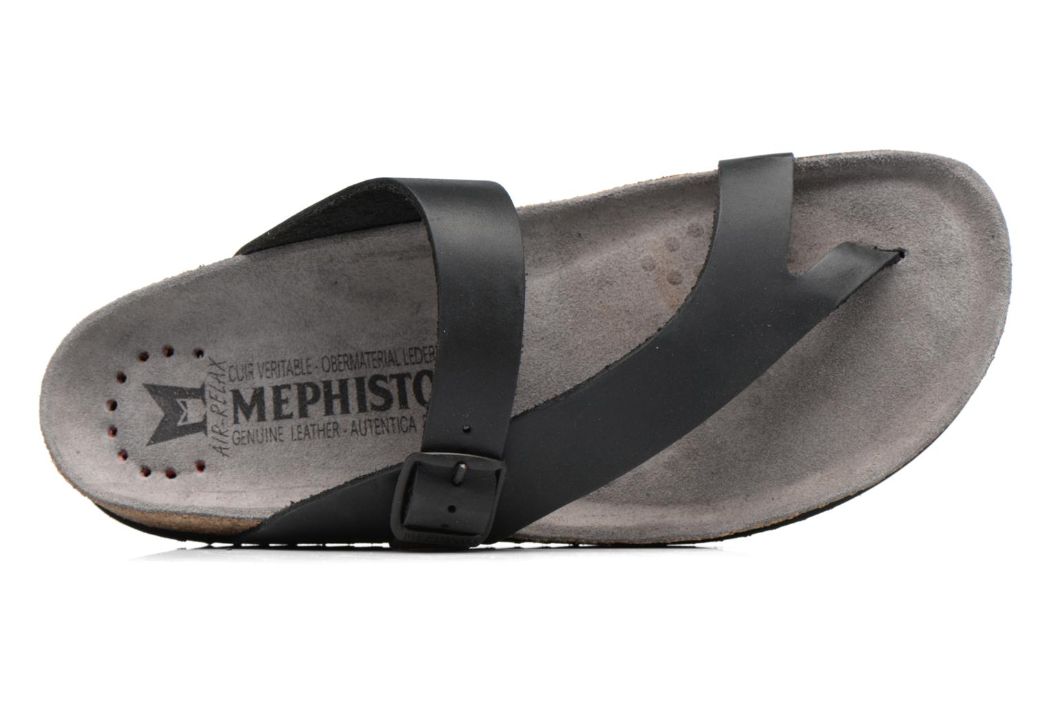 Flip flops Mephisto Niels Black view from the left
