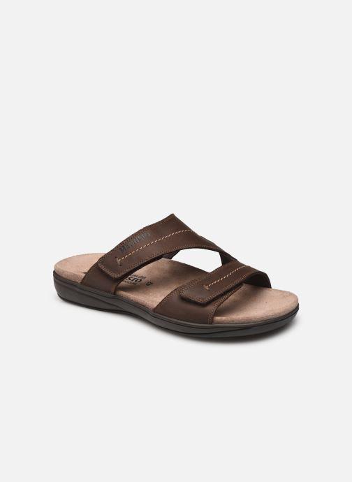 Sandales et nu-pieds Mephisto Stan Marron vue détail/paire