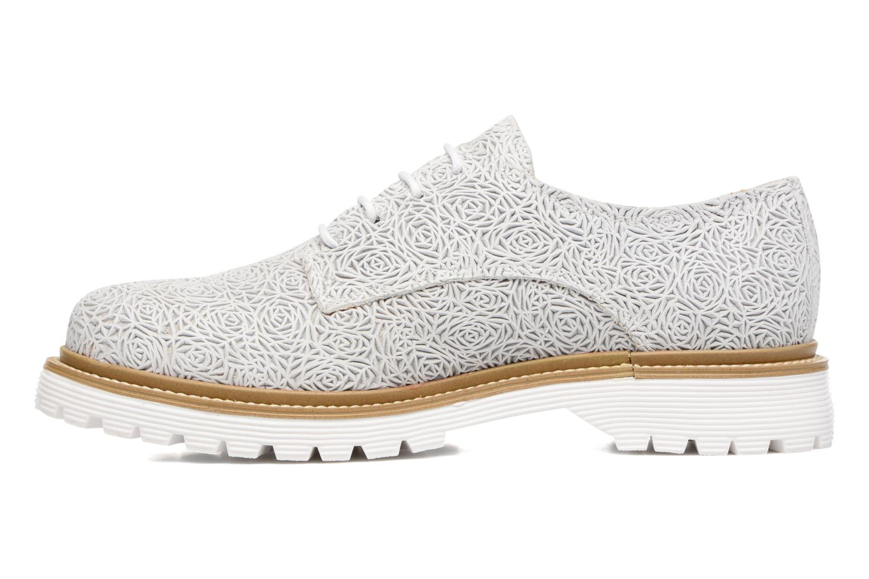 Zapatos con cordones Bronx Brifka-Chun Blanco vista de frente