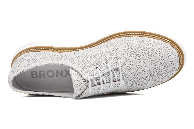 Zapatos con cordones Bronx Brifka-Chun Blanco vista lateral izquierda