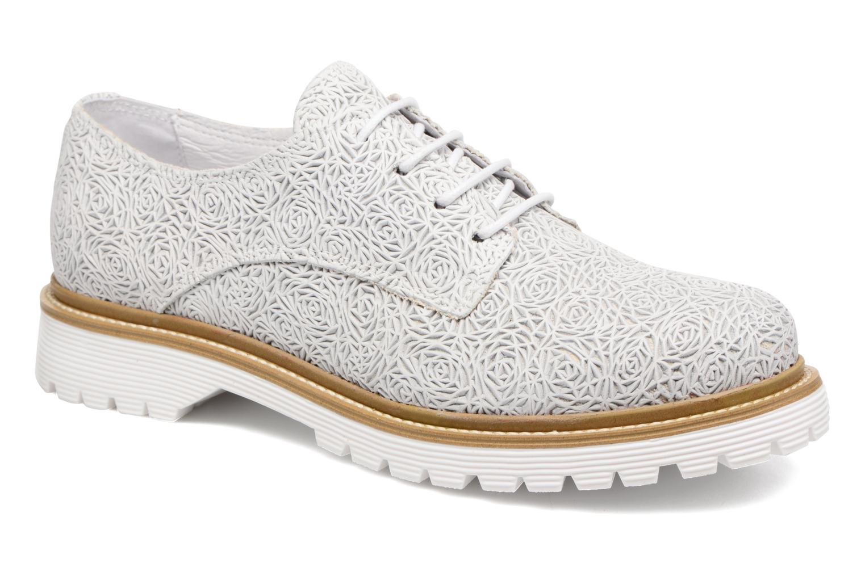 Zapatos con cordones Bronx Brifka-Chun Blanco vista de detalle / par