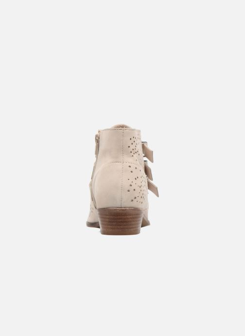 Ankle boots Bronx Brezax Beige view from the right