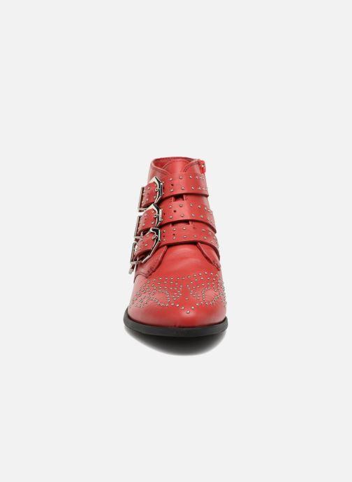 Bottines et boots Bronx Brezax Rouge vue portées chaussures