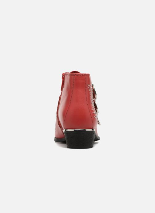 Ankle boots Bronx Brezax Red view from the right