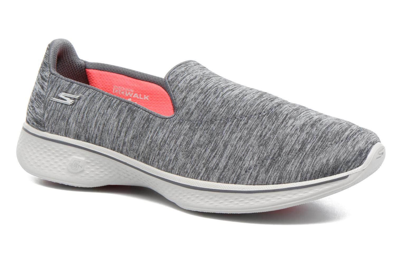 Chaussures de sport Skechers GO Walk 4 Achiever Gris vue détail/paire