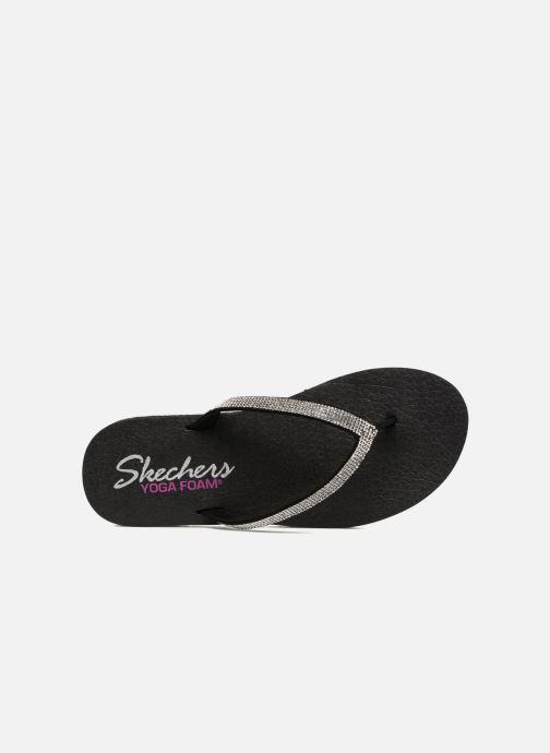 Zehensandalen Skechers Meditation Chill Vibes schwarz ansicht von links