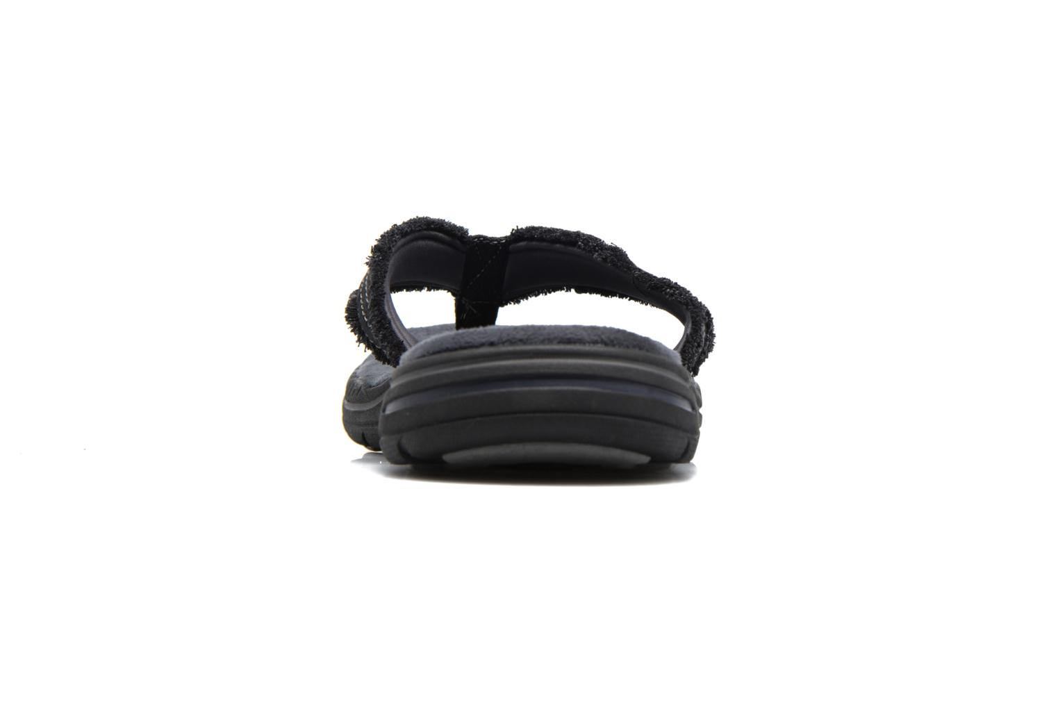 Flip flops Skechers Evented Arven Black view from the right