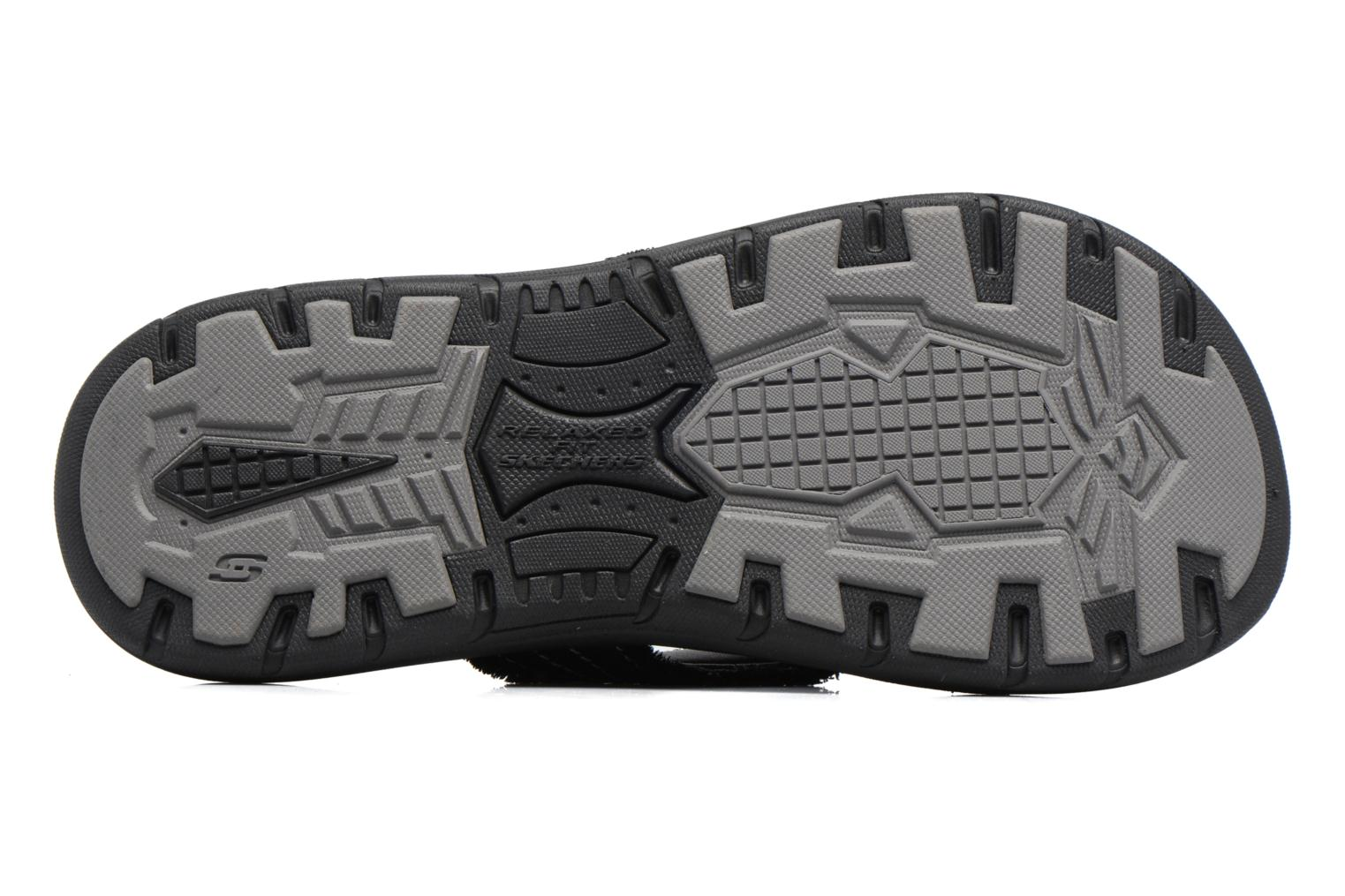 Flip flops Skechers Evented Arven Black view from above