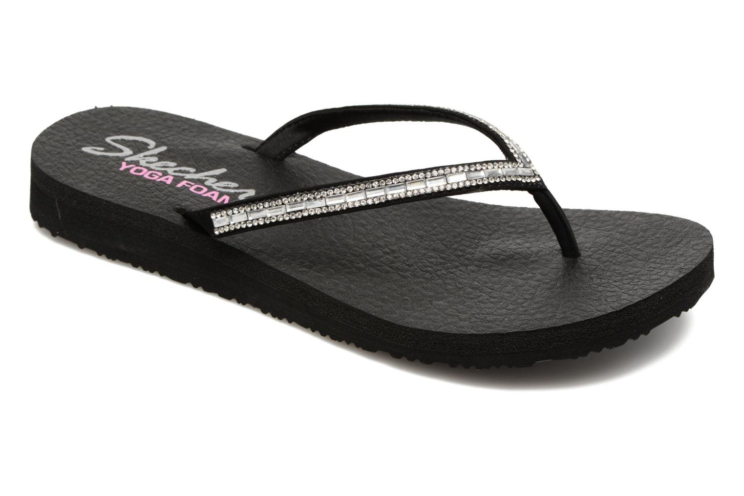 Tongs Skechers Meditation On desert Princess Noir vue détail/paire