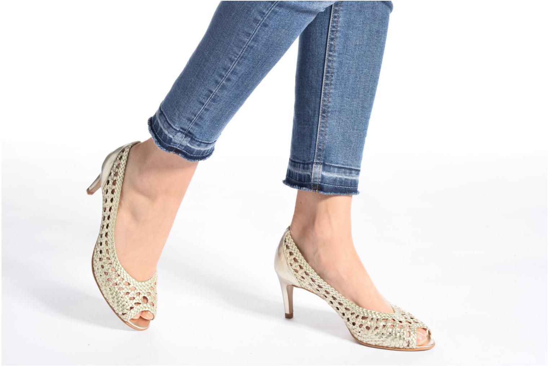Zapatos de tacón Georgia Rose Tressa Azul vista de abajo