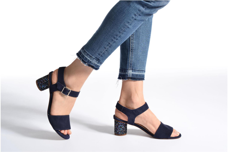 Sandales et nu-pieds Georgia Rose Anayette Bleu vue bas / vue portée sac