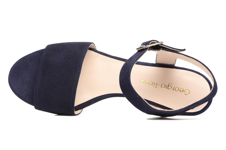 Sandales et nu-pieds Georgia Rose Anayette Bleu vue gauche