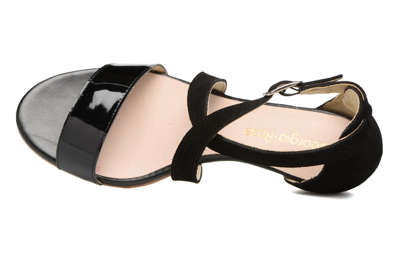 Sandales et nu-pieds Georgia Rose Anacale Noir vue gauche