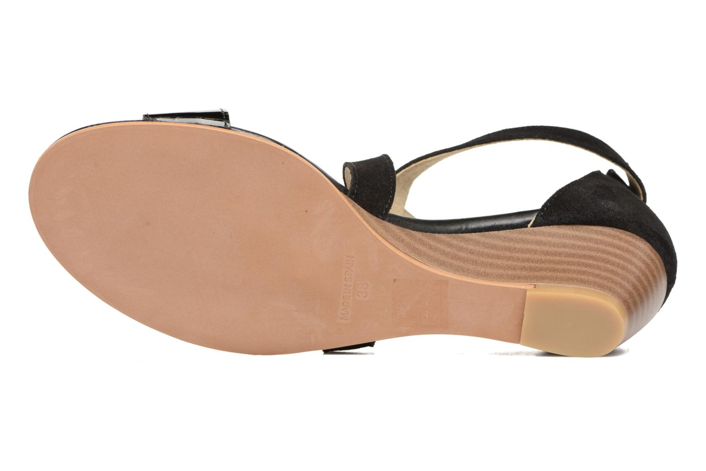 Sandales et nu-pieds Georgia Rose Anacale Noir vue haut