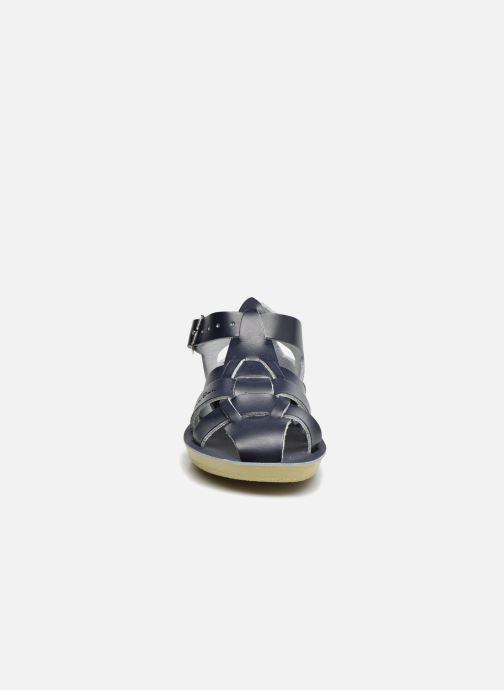 Sandales et nu-pieds Salt-Water Shark Bleu vue portées chaussures