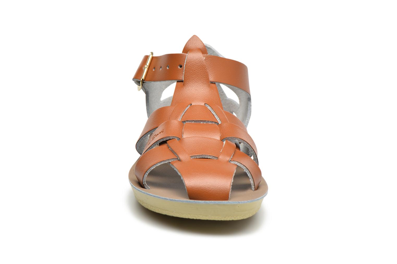 Sandales et nu-pieds Salt-Water Shark Marron vue portées chaussures