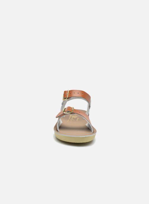 Sandales et nu-pieds Salt-Water Surfer Marron vue portées chaussures