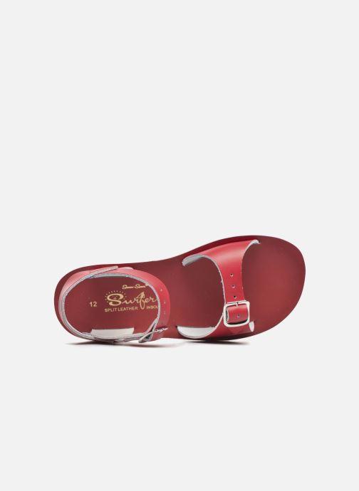Sandales et nu-pieds Salt-Water Surfer Rouge vue gauche