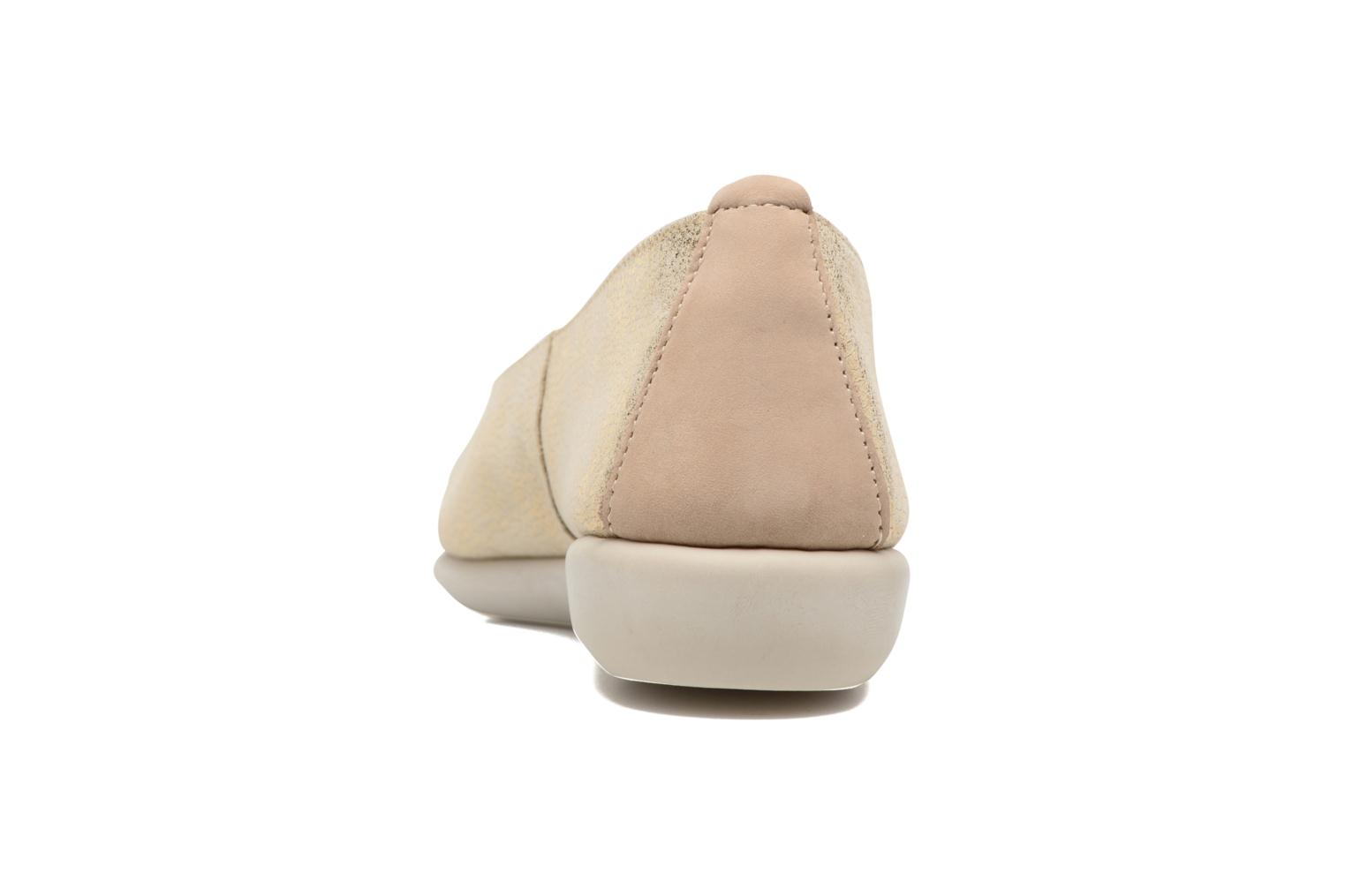 Bailarinas The Flexx Rise N Curry Beige vista lateral derecha