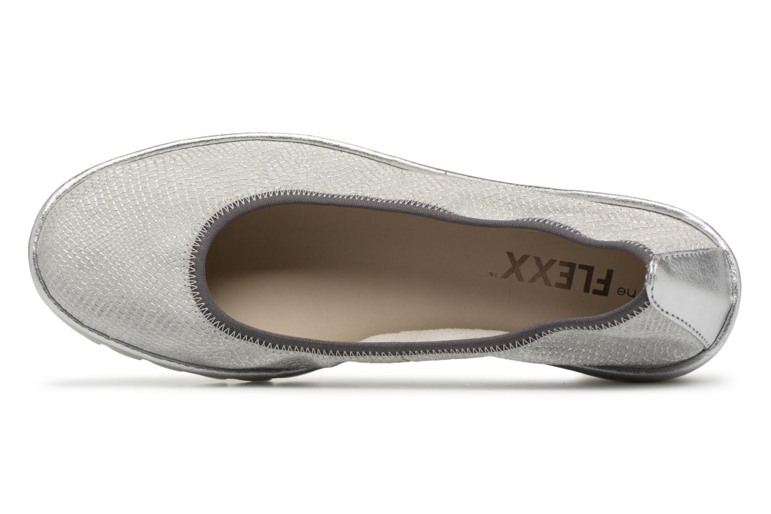 Ballet pumps The Flexx Mel A Drama Silver view from the left