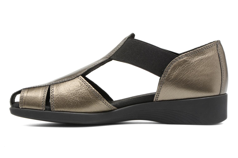 Sandalen Aerosoles 4Give silber ansicht von vorne