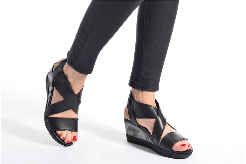 Sandales et nu-pieds Aerosoles Let's Go Noir vue bas / vue portée sac