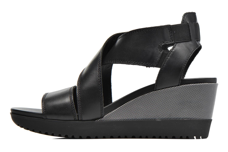 Sandales et nu-pieds Aerosoles Let's Go Noir vue face