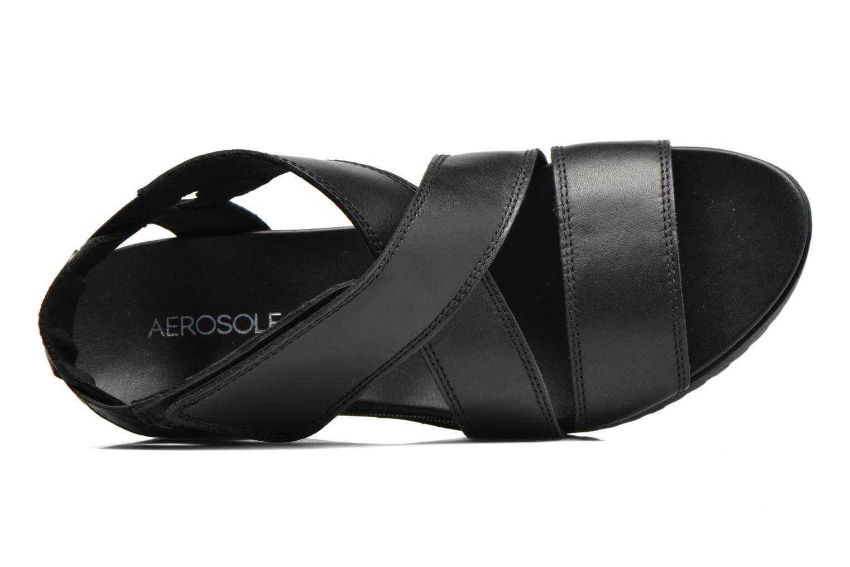 Sandales et nu-pieds Aerosoles Let's Go Noir vue gauche