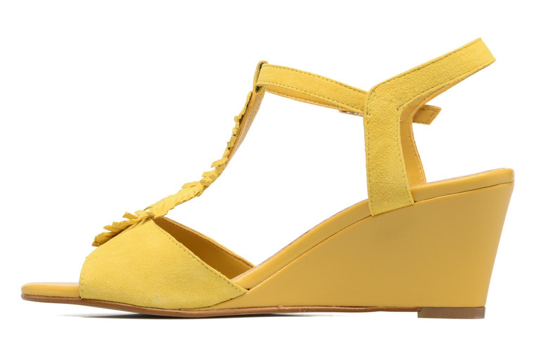 Sandalen Georgia Rose Lilifrange gelb ansicht von vorne