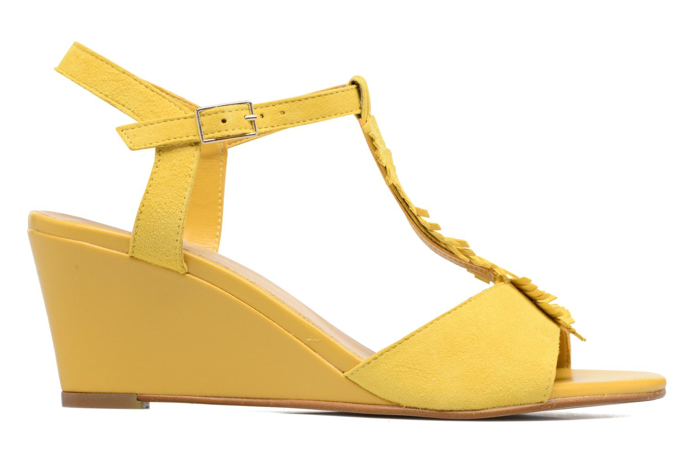 Sandalen Georgia Rose Lilifrange gelb ansicht von hinten