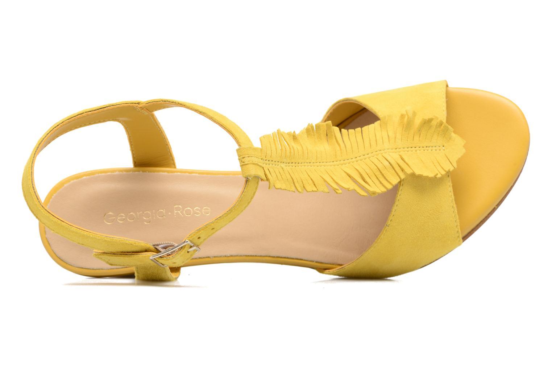 Sandalen Georgia Rose Lilifrange gelb ansicht von links