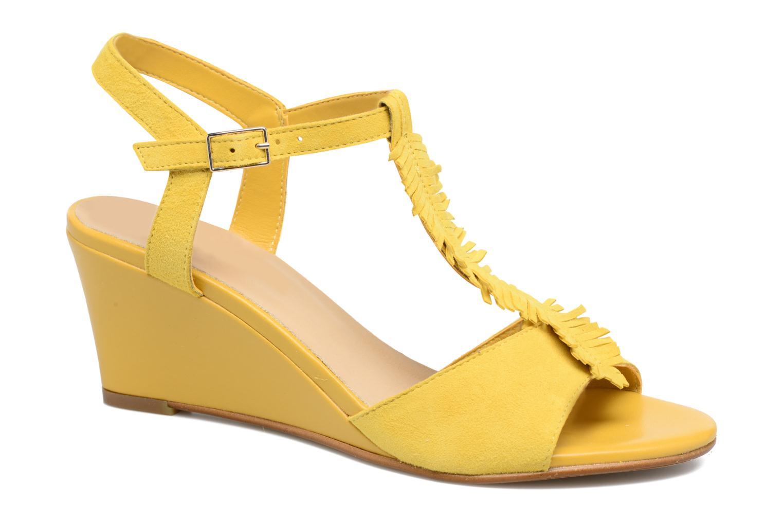 Sandales et nu-pieds Georgia Rose Lilifrange Jaune vue détail/paire