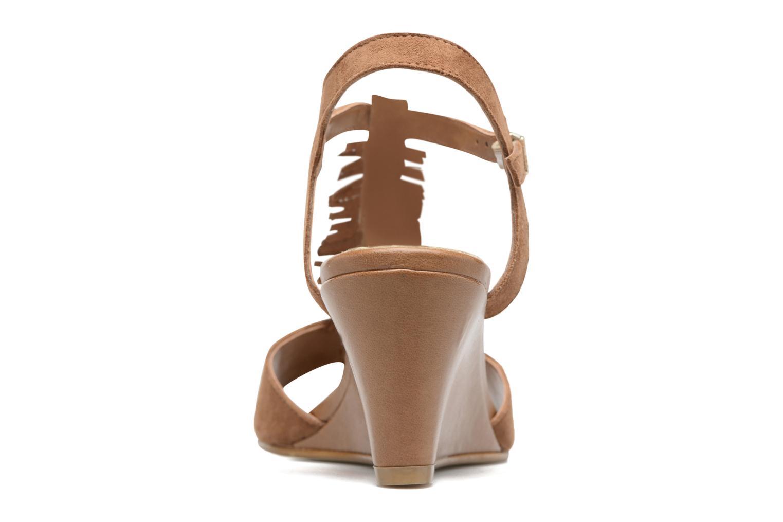 Sandales et nu-pieds Georgia Rose Lilifrange Marron vue droite